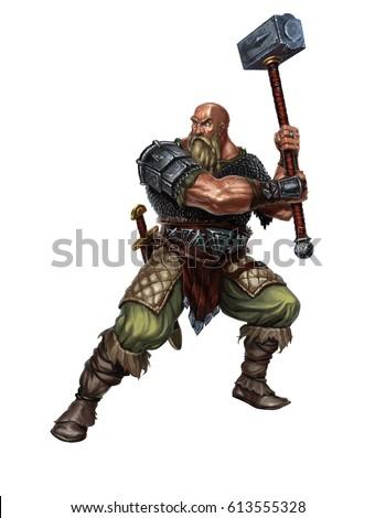 Viking battle hammer