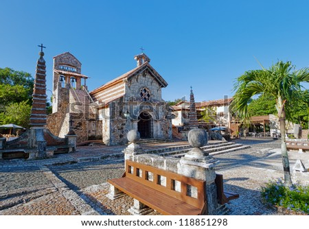 Old village in Dominican Republic - stock photo