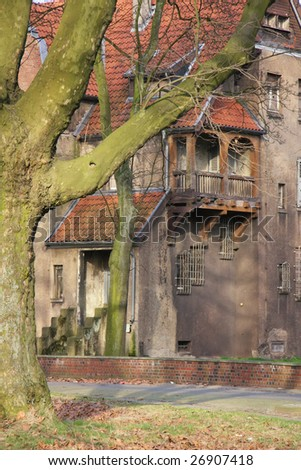 Old villas settlement in germany - under monument protection