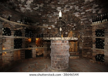 old vine cellar - stock photo