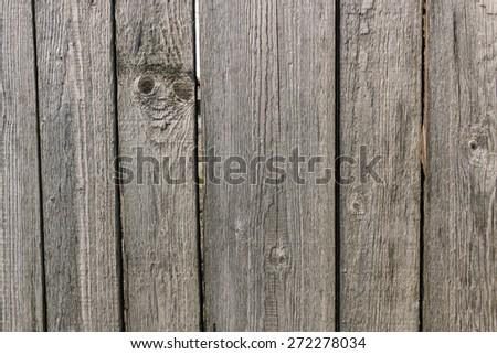 Old vintage aged fence background - stock photo