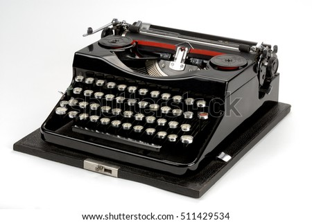 Old vintage antique typewriter machine