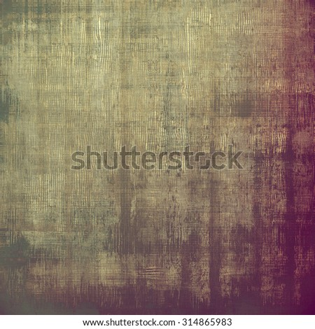 Old vintage background with retro-style elements and different color patterns: yellow (beige); brown; purple (violet); gray