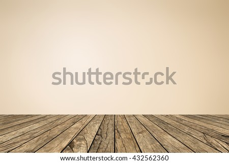 old vintage beige yellow brown wood panel tabletop with blurred light tan color background:grunge aged wooden paving with blur bright beige cream backdrop.show/advertising/promote products on display. - stock photo