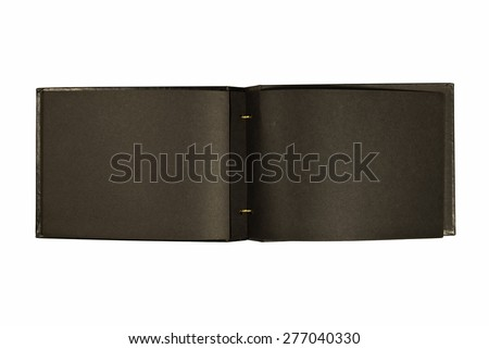Old Fashioned Photo Albums Black Pages Old Vintage Black Photo Album