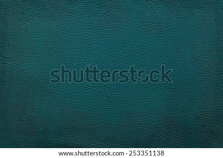 Old vintage blue leather texture closeup can be used as background - stock photo