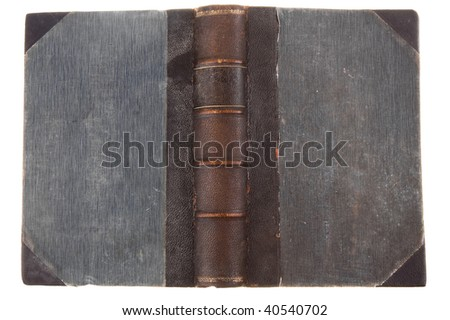 Old vintage book cover texture - stock photo