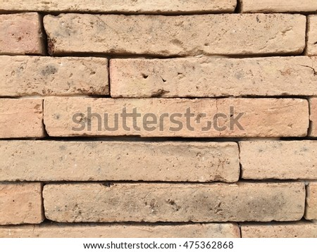 Old vintage brick wall texture pattern background