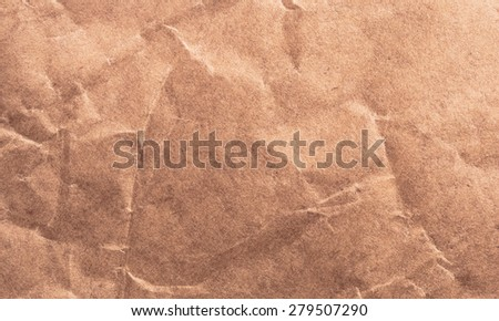 Old vintage brown page paper texture or background - stock photo