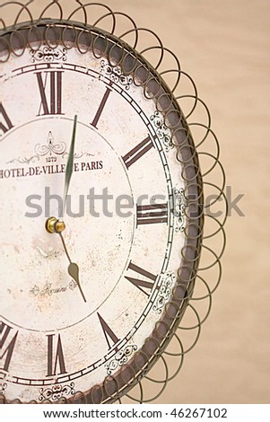 Old vintage clock - stock photo