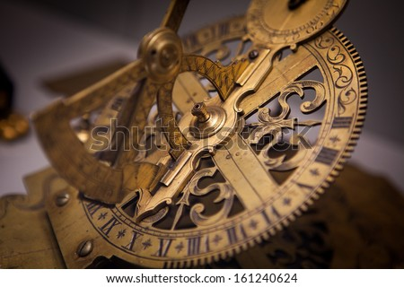 Old Vintage Clock Machine Cog - stock photo