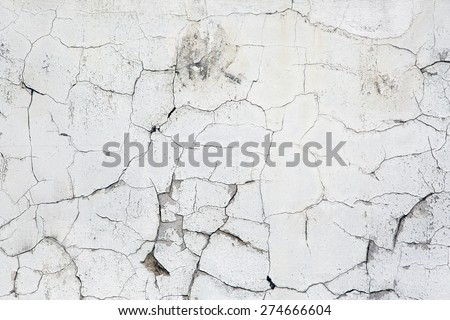 Old vintage crack wall  - stock photo