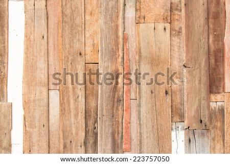 old vintage detail of wood wall texture - stock photo