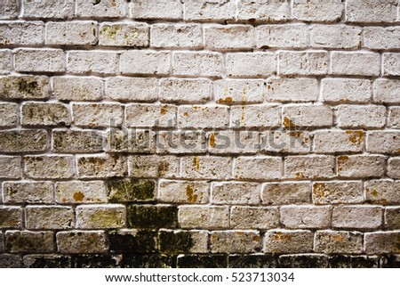 old vintage dirty bricks wall, grunge Bricks Wall Background