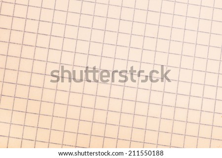 Old vintage discolored dirty graph paper. - stock photo
