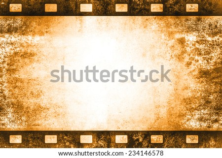 old vintage film roll background template - stock photo