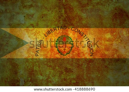 old vintage flag of one of administrative divisions of argentina called corrientes - stock photo