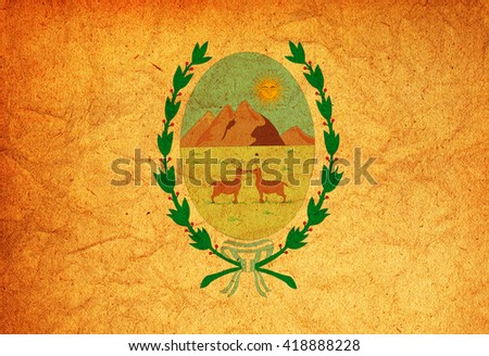 old vintage flag of one of administrative divisions of argentina called san luis - stock photo