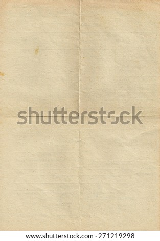 Old vintage folded paper - stock photo