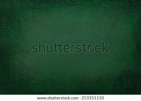 Old vintage green leather texture closeup can be used as background - stock photo