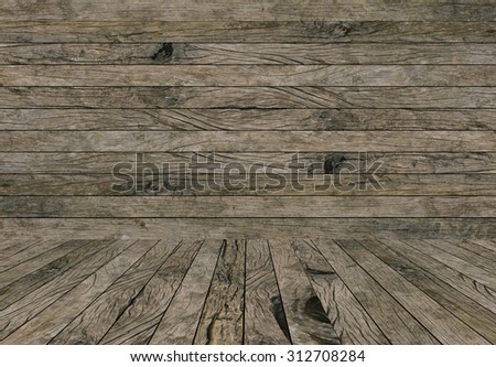 old vintage grungy beige brown wood backgrounds textures with tabletop : grunge aged wooden backgrounds with wood paving.put and show your products on this display.image with instagram filter. - stock photo