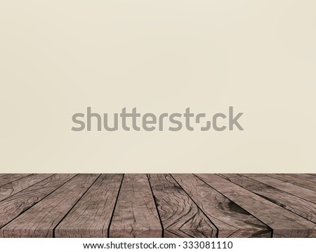old vintage grungy red brown wood tabletop with blurred light sepia colored backgrounds - stock photo