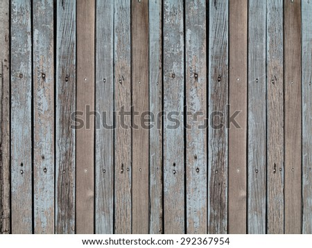 Old vintage panel wood background from solid wood ruin table pale gross color - stock photo