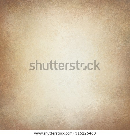 old vintage paper background. off white background with pale golden brown border texture and soft lighting. neutral background - stock photo