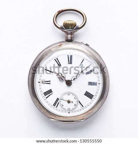 old vintage pocket watch - stock photo