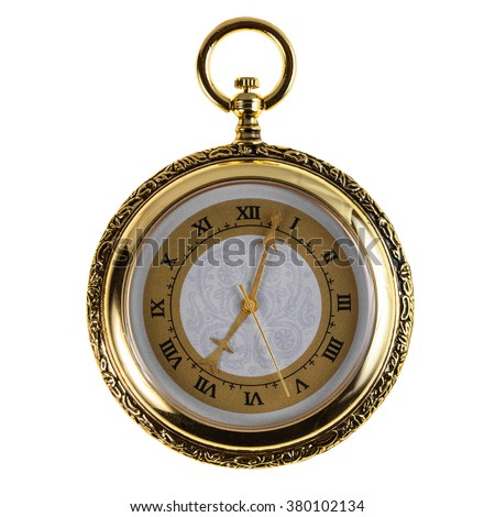 Old vintage pocket watch - stock photo