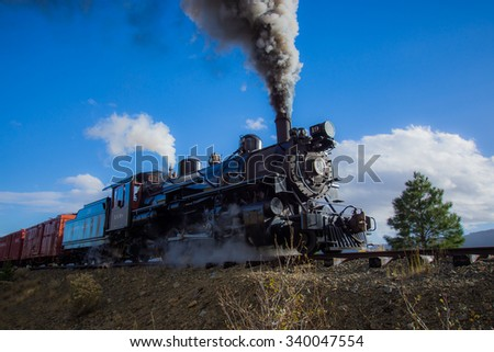 Old Vintage Steam Train/Vintage Locomotive/Vintage Locomotive - stock photo