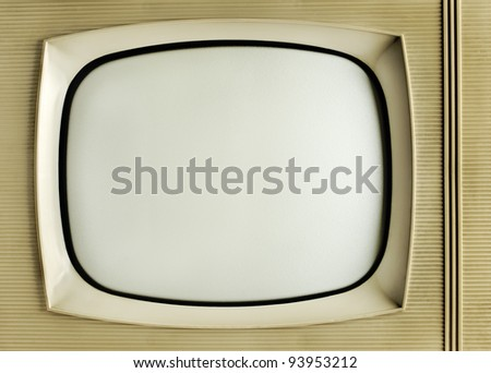 Old vintage television - grunge background with copy space