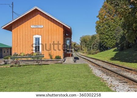 Old Vintage Train Depot At Curriers New York