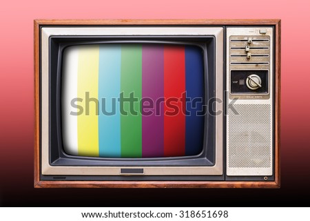 Old vintage TV - stock photo