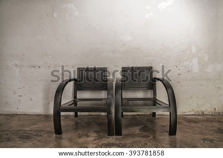 old vintage wooden chair chinese style - stock photo