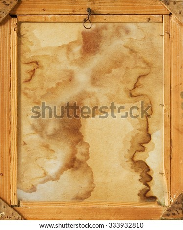 Old vintage wooden frame - stock photo