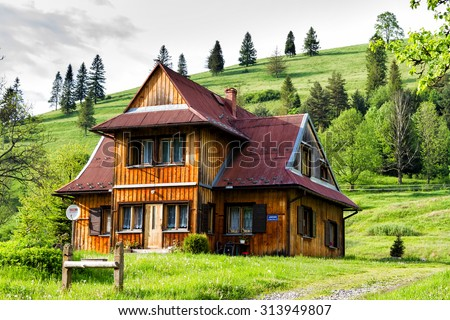 Home In The Mountains house in mountains stock images, royalty-free images & vectors