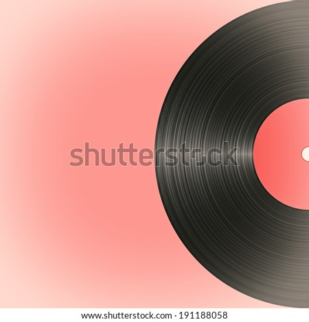 Old vinyl record in retro style. illustration