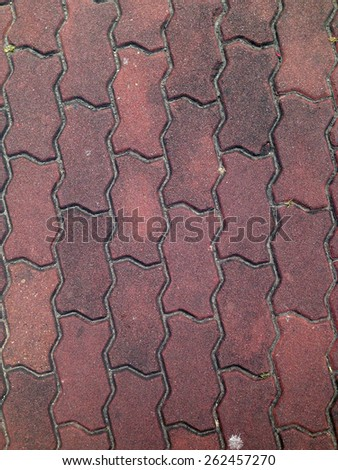Old Walk side street floor tiles. Background - stock photo