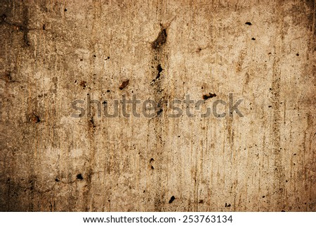 Old wall, battered and weathered.  - stock photo