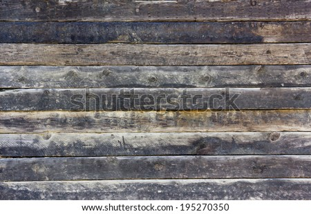 Old wall made out of wood planks is run-down and can be used for vintage backgrounds and textures.  - stock photo