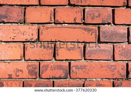 old wall of bricks