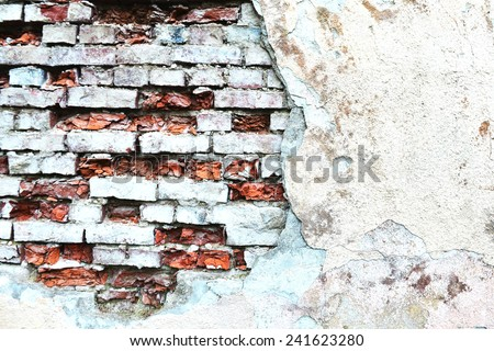 old wall of red brick. textured background