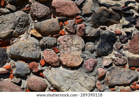 old wall of rocks