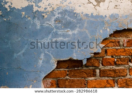Old wall, retro grunge background for design.