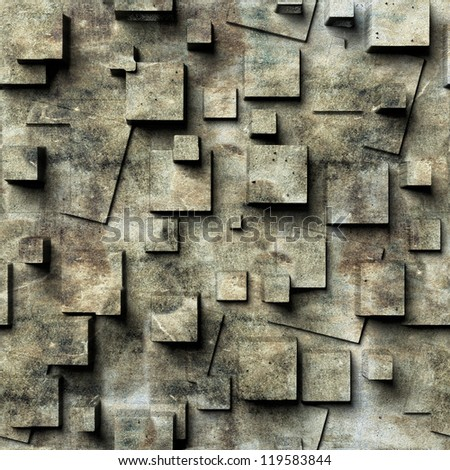 old wall, seamless - stock photo