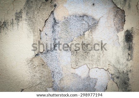 Old wall texture with peeling paint