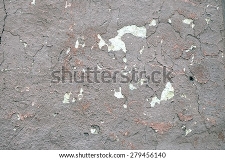 old wall with cracks background - stock photo