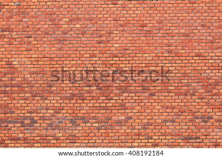 old wall with red bricks as nice background - stock photo