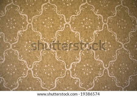 old wallpaper pattern - stock photo